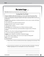 Test Prep Level 4: The Latest Lingo Comprehension and Crit