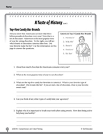 Test Prep Level 6: A Taste of History Comprehension and Cr