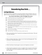 Test Prep Level 6: Remembering Rosa Parks Comprehension an