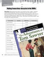 The Adventures of Tom Sawyer Making Cross-Curricular Conne