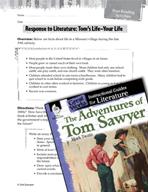 The Adventures of Tom Sawyer Post-Reading Activities (Grea