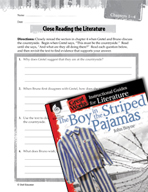 The Boy in the Striped Pajamas Close Reading and Text-Depe