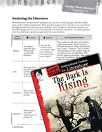 The Dark Is Rising Leveled Comprehension Questions (Great