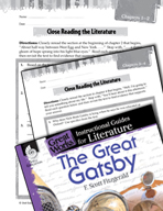 The Great Gatsby Close Reading and Text-Dependent Question