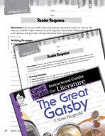 The Great Gatsby Reader Response Writing Prompts (Great Wo