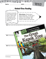 The Great Kapok Tree Close Reading and Text-Dependent Ques