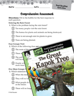The Great Kapok Tree Comprehension Assessment (Great Works