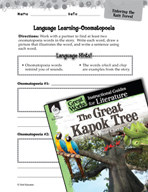 The Great Kapok Tree Language Learning Activities (Great W