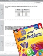 The Number System Leveled Problems: Adding, Subtracting, a