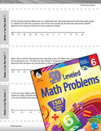 The Number System Leveled Problems: Greater or Less Than Zero?