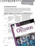 The Outsiders Leveled Comprehension Questions (Great Works