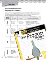 The Pigeon Books Leveled Comprehension Questions (Great Wo