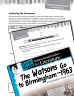 The Watsons Go to Birmingham - 1963 Leveled Comprehension