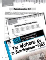 The Watsons Go to Birmingham - 1963 Making Cross-Curricula