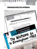 The Watsons Go to Birmingham - 1963 Post-Reading Activitie