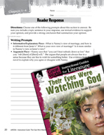 Their Eyes Were Watching God Reader Response Writing Promp