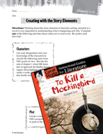 To Kill a Mockingbird Studying the Story Elements (Great W