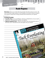 Tuck Everlasting Reader Response Writing Prompts (Great Wo