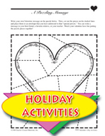 Valentine's Day Activities - Love Bookmark, Necklace, and