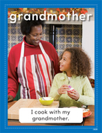 Vocabulary Concept Cards - Grandmother and Grandfather