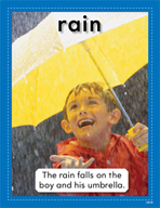 Vocabulary Concept Cards - Rain and Rainbow