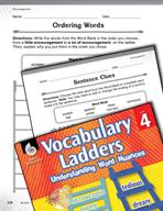 Vocabulary Ladder for Encouragement