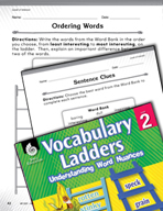 Vocabulary Ladder for Level of Interest