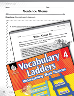 Vocabulary Ladder for Size -  Small to Large