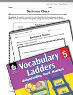 Vocabulary Ladder for Using Said to Show or Express Emotion