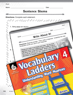 Vocabulary Ladder for Weight