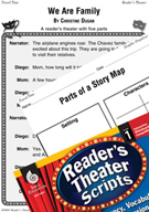 We Are Family Reader's Theater Script and Lesson