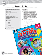 Writing How-to Books Literacy Center