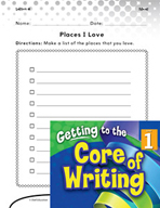 Writing Lesson Level 1 - Places I Love