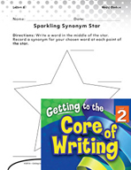 Writing Lesson Level 2 - Sparkling Synonym Stars
