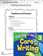 Writing Lesson Level 3 - Sharing Writing