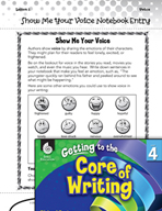 Writing Lesson Level 4 - Show Me Your Voice