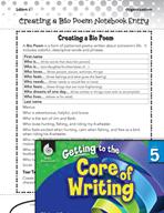 Writing Lesson Level 5 - Creating a Bio Poem