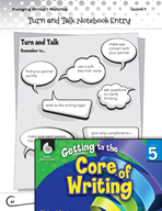 Writing Lesson Level 5 - Turn and Talk with Writing