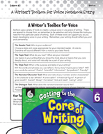 Writing Lesson Level 6 - A Writer's Toolbox for Voice