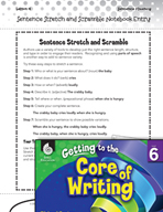 Writing Lesson Level 6 - Sentence Stretch and Scramble