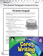 Writing Lesson Level 6 - The Stacker Paragraph