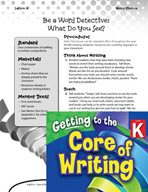 Writing Lesson Level K - Be a Word Detective
