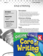 Writing Lesson Level K - Kinds of Writing