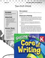 Writing Lesson Level K - Two-Inch Voices