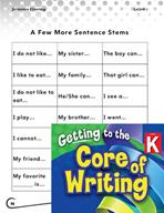 Writing Lesson Level K - Using Sentence Stems