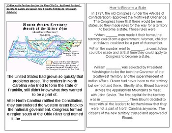 TN SS 4.45 Southwest Territory, William Blount, Treaty of Holston