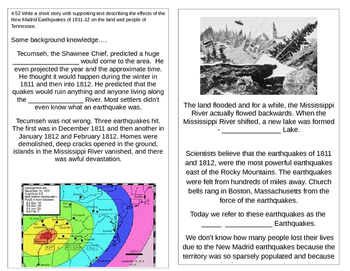 TN SS 4.52  New Madrid Earthquake