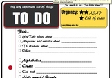 TO DO List for teacher/student aide