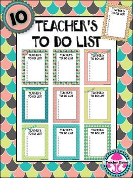 FREE ~ TO DO Lists for Teachers ~ 10~ FREEBIE ~ Organizati