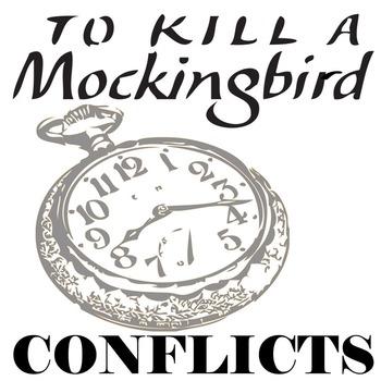 TO KILL A MOCKINGBIRD Conflict Graphic Organizer - 6 Types